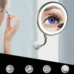10 X Magnifying LED Light Makeup Mirror Cosmetic Portable 36