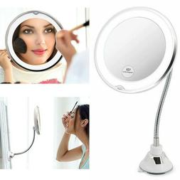 10X Magnifying LED Light Beauty Cosmetic Make Up Desktop Sta
