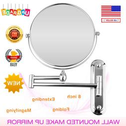 10X Magnifying Makeup Vanity Mirror Wall Mounted Extendable