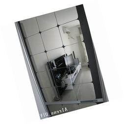 Alrens 15x15cm Squares Roof Ceiling Decor Mirror Surface Cry
