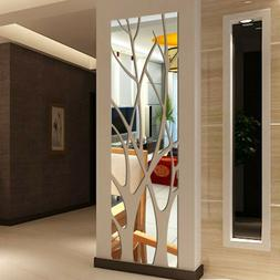 3D Tree Branch Mirror Wall Stickers Removable DIY Mural Acry