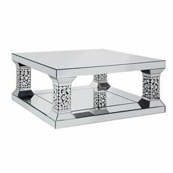 Acme Kachina Coffee Table in Mirrored and Faux Gem