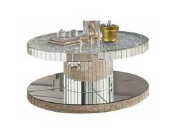 Acme Ornat Coffee Table in Mirrored and Faux Stones Finish 8