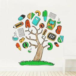 DecalMile Alphabet ABC Tree Wall Decals Kids Wall Stickers P