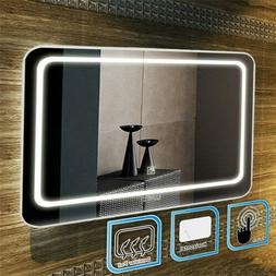Anti-fog Bathroom LED Light Illuminated Mirror Wall Mounted