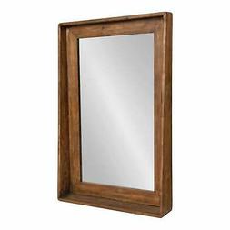 Kate and Laurel Basking Wall Mirror with Shelf - Brown - Bro