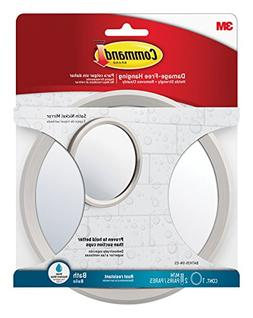 Command Bath Mirror, Satin Nickel, 1 2 Sets of Medium Water