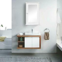 Bathroom Wall Mounted Hanging Storage Cabinet Furniture Mirr