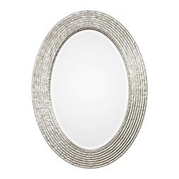 "NEW BURNISHED SILVER HAMMERED FINISH 34"" BEVELED OVAL WALL V"