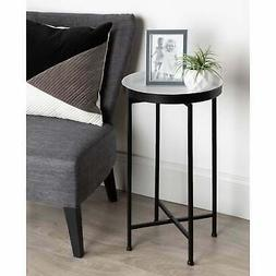Kate and Laurel Celia Round Foldable Tray Accent Table