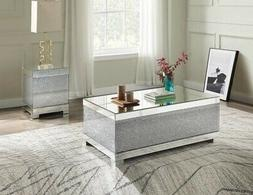 coffee table mirrored and faux crystals ningbo