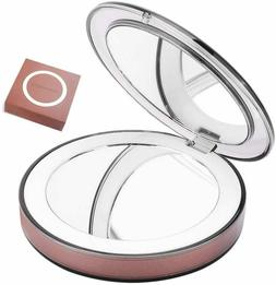Compact Mirror Travel Mirror LED Lighted 3X/1X Magnifying Ma