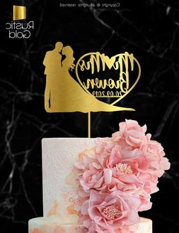 Customized Wedding Cake Topper Mr Mrs Personalized Marriage