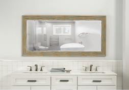 Distressed Rustic Full Length Leaner Mirror Weathered Farmho