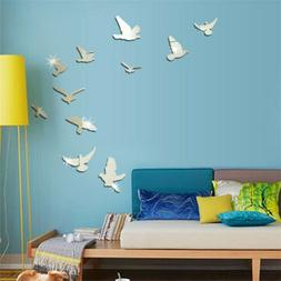 DIY Removable Home 3D Mirror Wall Stickers Decal Art Vinyl R
