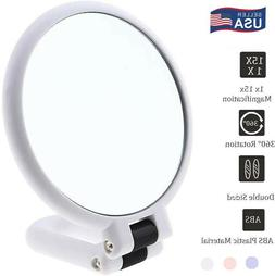Double Sided 15x&1x Magnifying Mirror Handheld Travel Vanity