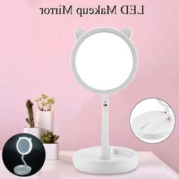 Double-Sided LED Cosmetic Vanity Makeup Mirror Travel Foldab