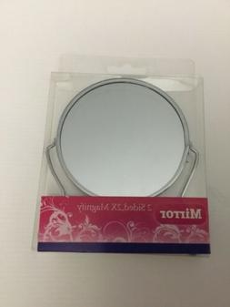 DOUBLE SIDED MIRROR WITH 2X MAGNIFY ONE SIDE