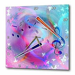 3dRose DPP_212831_3 Musical Themes of Notes, Treble Clef, Pa