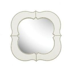 Elegant Studded Brass Nail Heads Bordered Wall Mirror Made O