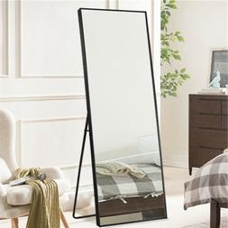 Floor Mirror Free Standing Full Length  Stand Wall Mounted C