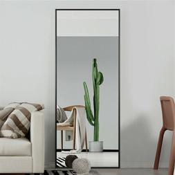Floor Standing Mirror Shiny Steel Stainless Large Home Makeu