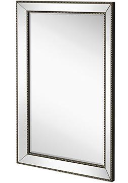 Large Framed Wall Mirror with Angled Beveled Mirror Frame an