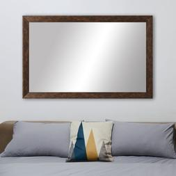 Framed Wall Mirror in Bronze Finish - LaRue Collection