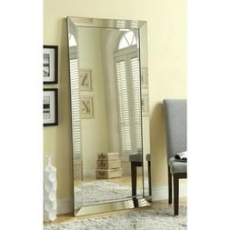 Full Length Beveled Leaner Mirror Floor Decoration Freestand