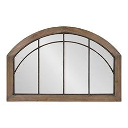 Kate and Laurel Haldron Traditional Wood Arch Mirror with De