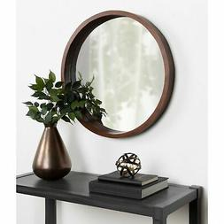 """Kate and Laurel Hutton Round Wood Wall Mirror - 22"""" diameter"""