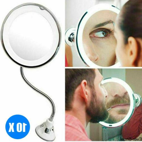 10 X Magnifying Makeup Mirror LED Light Cosmetic Portable 36