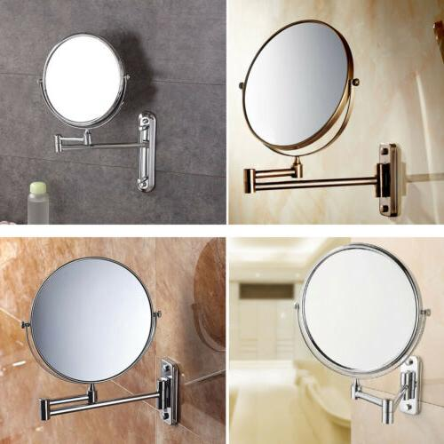 Bathroom 360°Wall Mounted Adjustable Double Side 10x Magnif