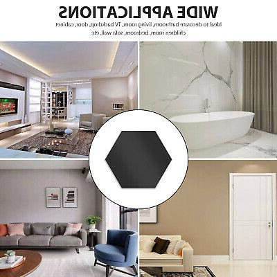 12Pcs Mirror Wall Stickers Room Art Removable Dector