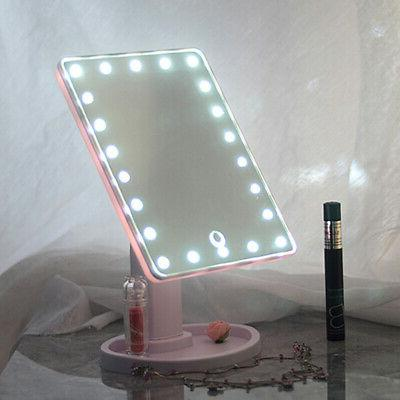 16/22 LED Makeup Mirror Touch Screen Lighted Tabletop DA