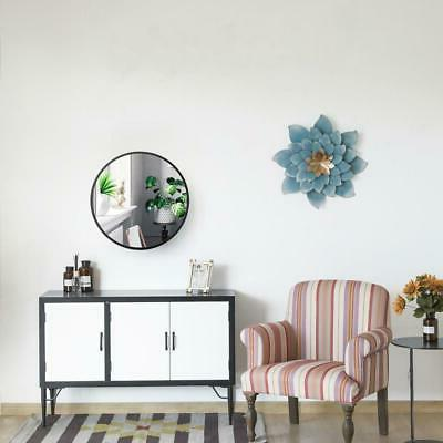"""24 24"""" Round Wall Mirror With Metal"""
