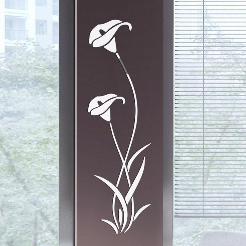US Mirror Flower Art Removable Mural Decal Room Decor