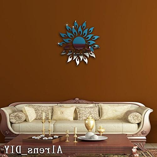 Alrens_DIY Mirror Surface Wall Stickers DIY Home Living Murals Paper Decor adesivo parede