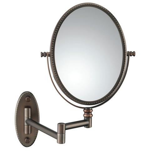 Conair Beaded Oval Wall Mount Mirror in Oil Rubbed Bronze wi
