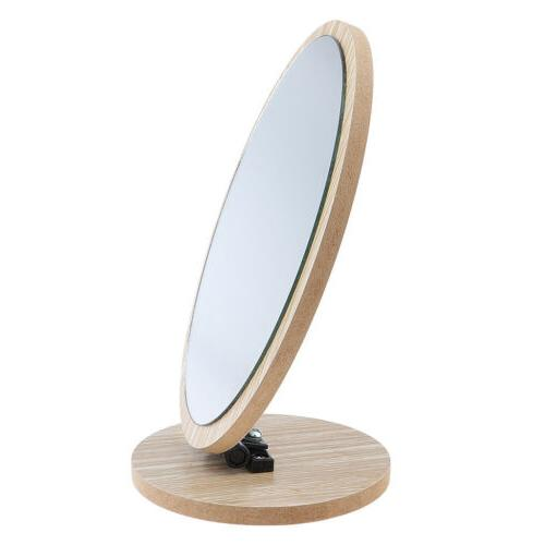 Countertop Makeup Vanity Foldable Oval Mirror for Bathroom C