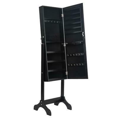 Durable Jewelry Armoire Mirror Holder Box Freestanding