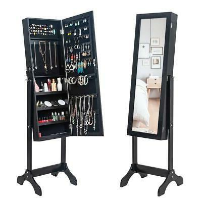 durable mirrored jewelry cabinet armoire mirror holder