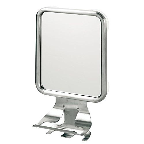 InterDesign Bathroom or Mirror with Shaving Razor Holder - Stainless Steel