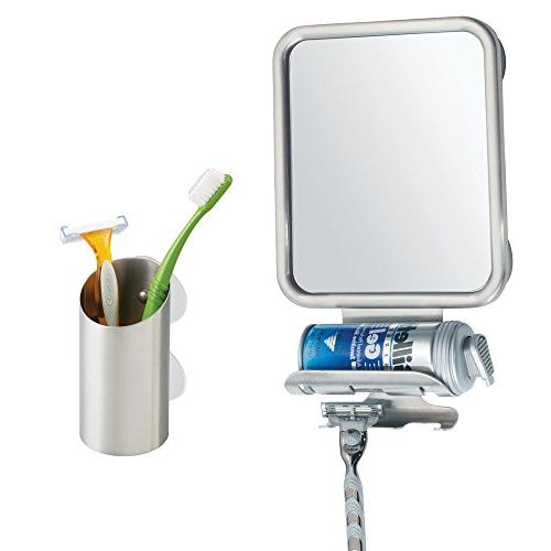 InterDesign Forma or Shaving Mirror Razor Holder Stainless Steel