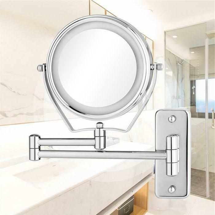 LED Makeup Mirror Cosmetic Vanity light up Dual 5x Magnifica