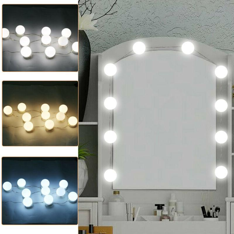 10 LED Make Up Mirror Lights  Kit Bulbs Vanity Light Dimmabl
