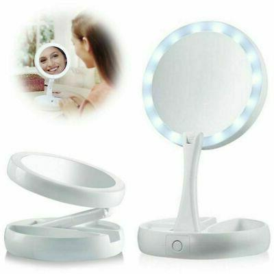 makeup mirror led light up double side