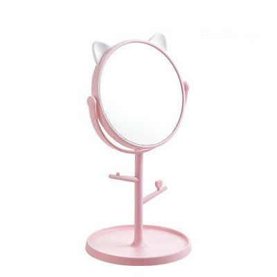 makeup silver mirror pink frame material abs