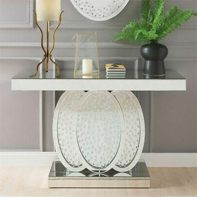 nysa glass mirrored console table