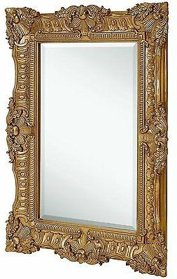 ornate gold baroque frame mirror